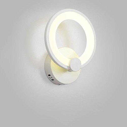 KMYX Moderne Minimaliste LED Lampe Murale Chaude Chambre Chevet Lampe Chambre D'enfants Protection Des Yeux Nuit Lumière Ronde Murales Lumières Pour L'étude Salon Restaurant Allée Balcon Mur Appliques