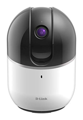 D-Link DCS-8515LH HD Pan & Tilt Wi-Fi Camera (Alexa, Google und IFTTT kompatibel, 120 Grad Blickwinkel, Nachtsichtfunktion, Bewegungs- und Geräuscherkennung, Fern-Zugriff per App)