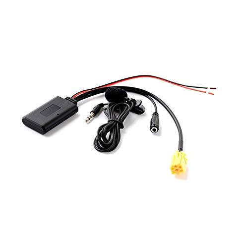 ZHANGHONGWEI Adaptador de Cables con Receptor AUX Bluetooth con micrófono Fit para Alfa Romeo 159 Fit para Fiat Grande Punto Fit para la Unidad de CD de Audio de 6 Pines