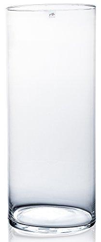 Sandra Rich Glasvase CYLI klar zylindrisch 60 cm Ø 25 cm