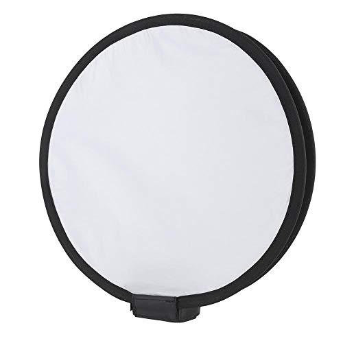 Yunir Diffusore softbox Speedlite Bianco Tondo Bianco Puro Portatile Pieghevole da 40 cm per Flash con Fotocamera con Custodia