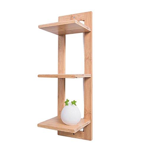 QZz Home® Bambus Wandregal Wandbehang Topfregal Balkon Wohnzimmer Hanging Multi-Layer-Finishing Storage Display-Ständer (größe : A)