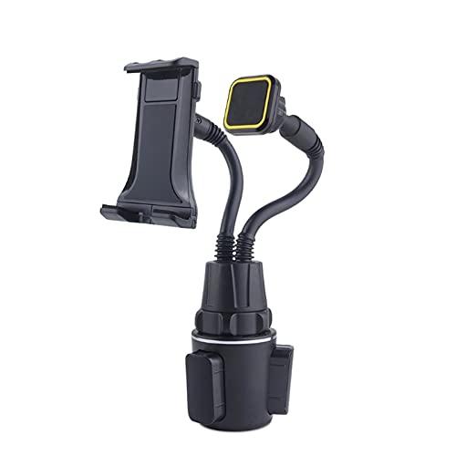 zis 2in1 Coche Tablet Mount Flexible Copa de Cuello Copa de Coche Titular de Teléfono Magnético Soporte Cuna Ajuste para Tabletas De Teléfonos Celulares 4-13 Pulgadas (Color : Black)