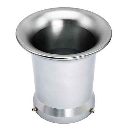 Motorrad Luftfilterbecher 50mm, CNC Aluminiumlegierung Luftfilter Ansaugtrichter Universal Modifikation Luftfilterbecher kompatibel mit PWK 21/24/26/28/30 mm Vergaser, Titan