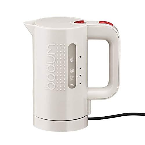 Bodum Bistro Hervidor de agua eléctrico, 0,5 l, 700 W, 0.5 litros, plástico, Blanco crema