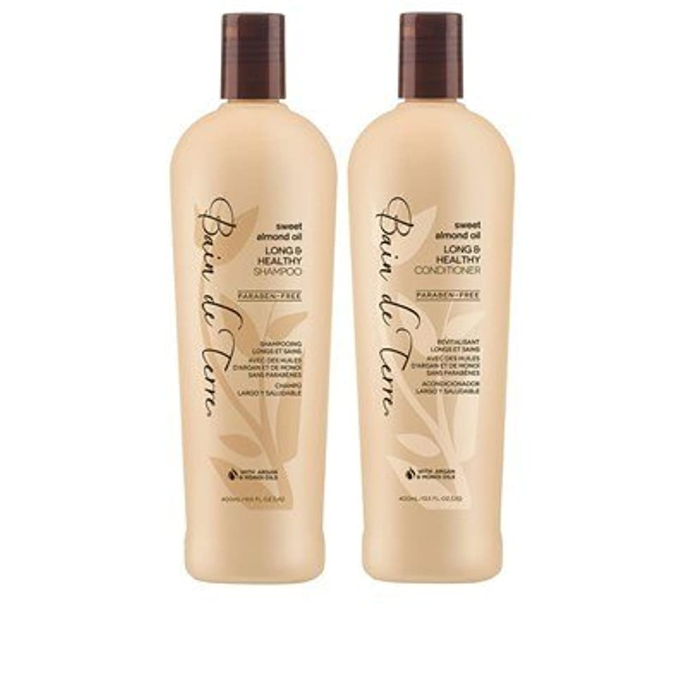 Bain De Terre. New! Sweet Almond Oil Long & Healthy Shampoo & Conditioner 13.5oz