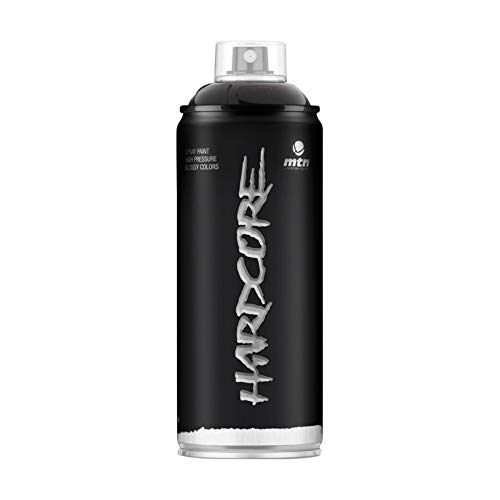 Pintura en spray MTN HC2 R-9011 Negro Brillante 400ml