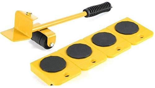 genneric Möbel Lifter Mover-Werkzeug-Set, 1 Hubstange und 4 Möbelverstellsysteme Walzen, 360-Grad-Universal-Rad-Arbeitssparende Pulley Tragen