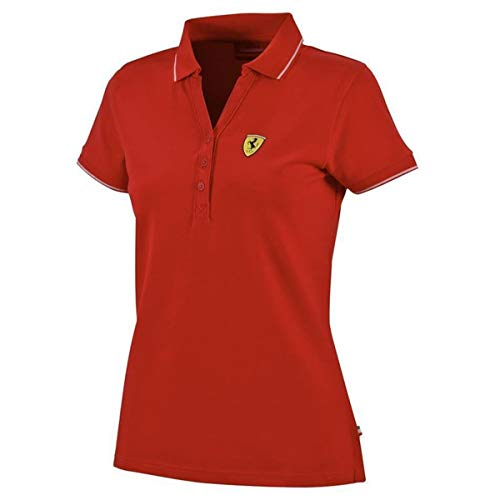 Ferrari F1 Red Cotton Pique Ladies Polo S