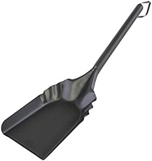 "Rocky Mountain Goods Fireplace Ash Shovel Long - 20"" - Heavy Gauge Steel - Heat Resistant Paint/Finish - Leather Hang Strap - Coal Shovel for Wood Stove (1)"