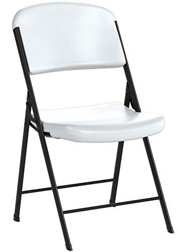 LIFETIME Commercial Grade Folding Chair, 4 Pack, White Granite
