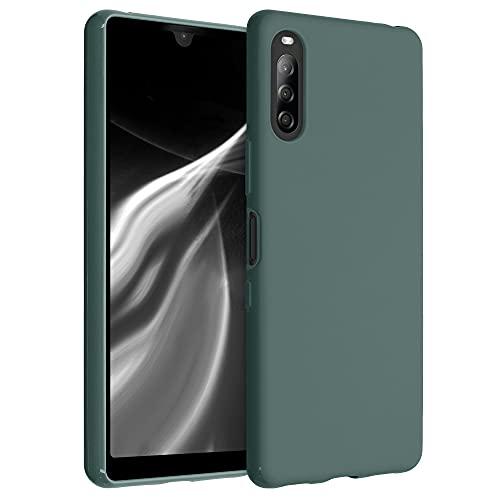 kwmobile Cover per Sony Xperia L4 - Custodia in Silicone TPU - Backcover Protezione Posteriore- Verde Blu