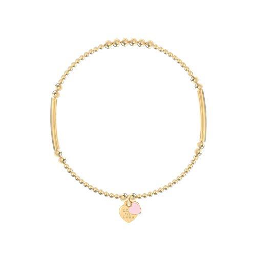 Lora di Lora Pulsera Candy-Blossom Rosk. Una cuerda individual en 1,0 mm de alta calidad American Elastic 18CT Oro Vermeil 17 cm. para mujer