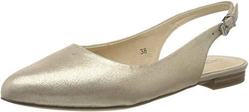 CAPRICE Damen Alisa Slingback Ballerinas, Gold (LT Gold Metal. 978), 37 EU