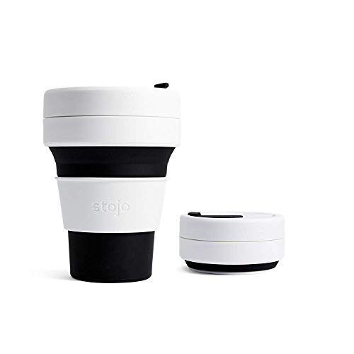Stojo Collapsible Pocket Cup, Silikon, schwarz, 5 x 13 cm