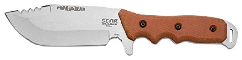 Price comparison product image SCAR BLADES Papa Bear Knife,  Powdercoat Gray / Brown / Black