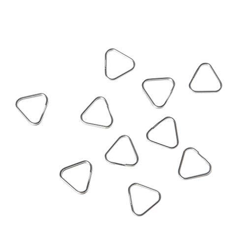 SHURROW 10 unids/Set Anillos Triangulares de Metal divididos Gancho de Correa para cámara Digital Piezas de Repuesto Anillos Triangulares