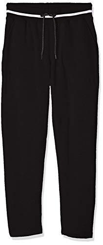 James & Nicholson Damen Ladies' Jog-Pants Sporthose, Schwarz (Black/White), W45 (Herstellergröße: XXL)