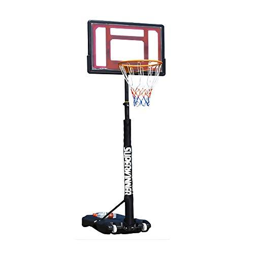 XINGLIAN Kinder Tragbar Basketball-Ständer Draussen Basketballkorb Basketball Bordnetz System Mit Rädern Höhenverstellbar 120-210 cm 4 Farben Optional (Color : Red)