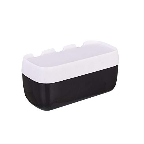 Los titulares tejido de la caja cuadrada del tejido cubierta de la caja de la servilleta titular Bao Organizador soporte blanco Para Bao y Cocina (Color : Black, Size : L)