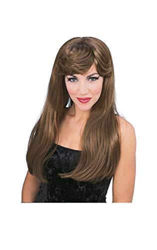 Horror-Shop Glamour perruque brune