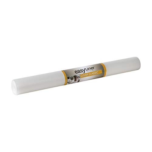 Duck Brand Clear Classic Easy 286231 Non-Adhesive Shelf Liner, 24 in x 10 ft Roll