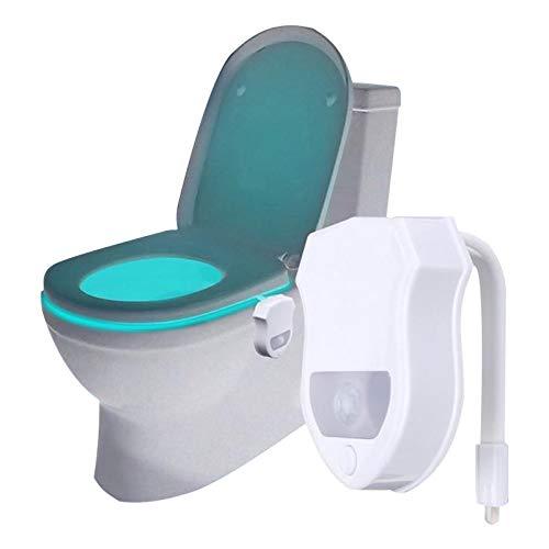 Vvdf 8LED à couleurs WC pour abattant de WC du corps humain Induction détecteur de mouvement lumière