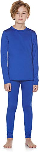 TSLA Kid's & Boy's and Girl's Thermal Underwear Set, Soft Fleece Lined Long Johns, Winter Base Layer Top & Bottom, Boy Thermal Set(khs300) - Blue, Medium