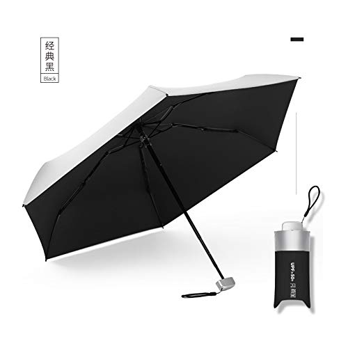 Paraguas Plegable Automático Negro Impermeable Armazones Pa