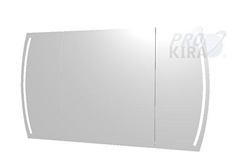PELIPAL Contea Spiegelschrank inkl. LED Beleuchtung/CT-S3E23-1270-17 / Comfort N/B: 119 cm