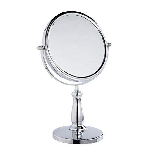 Miroir de Maquillage Double Face Miroir de vanité, 3X grossissement 360 ° Miroir de vanité Rotatif, Maquillage beauté