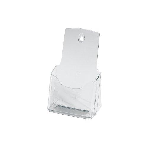 SIGEL LH113 Tisch-Prospekthalter DIN lang/A6, aus hochwertigem Acryl / Prospektständer / Flyerhalter