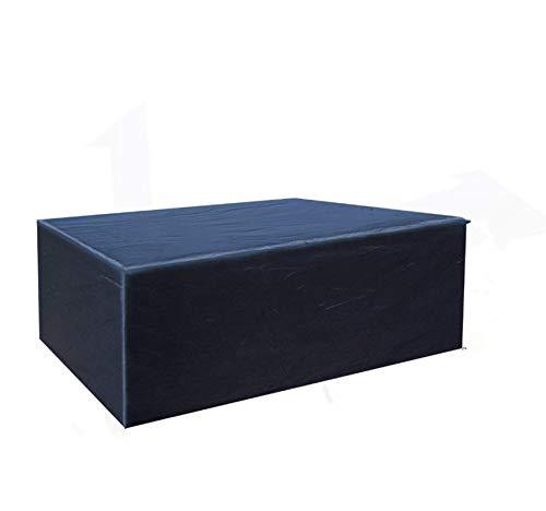 Buzazz Fundas de Muebles Oxford Tela Impermeable Resistente al Polvo Anti-UV Protección Exterior Muebles de Jardín Cubiertas de Mesa y Silla Negro (200 x 160 x 70 cm)