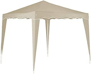 cucunu Canopy Instant Gazebo Pop Up Tent 10 x 10 Shelter with Metal Frame for Outdoor Patio Garden Waterproof 10x10 Beige