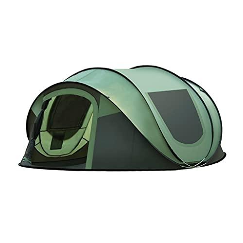 ZHANGCHUNLI Tienda de Campaña Tiendas Portable Tienda Emergente Completamente Automatico Apertura Rápida 3-4 Persona Impermeable Familia Carpa para Camping,Verde