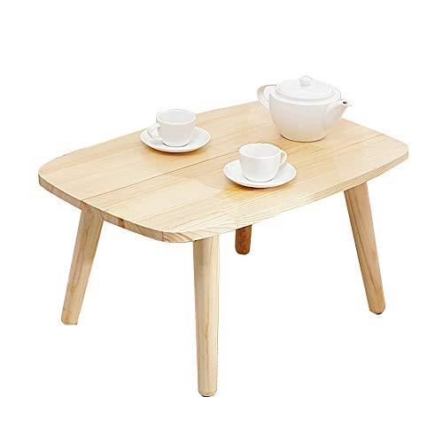 HAIZHEN Tables basses Table basse en bois massif à 100%, table basse pour le rebord de la fenêtre (Couleur : A-Fillet)
