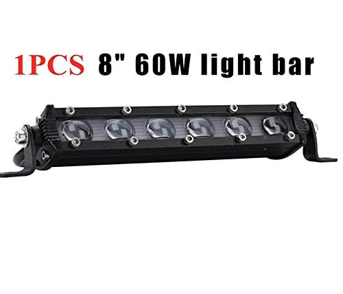Hsmin 2 UNIDS 6D 8InCH 60W LED Foco de luz Luz LED Luz Luz Lámpara de conducción Ajuste para camión SUV ATV Boad RZR 4X4 Off DERIGHT Light 12V 24V (Color : 1pcs 60w)