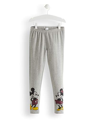 RED WAGON Girl's Minnie Mouse and Mickey MouseGreymarl Leggings, Grey (Grey...