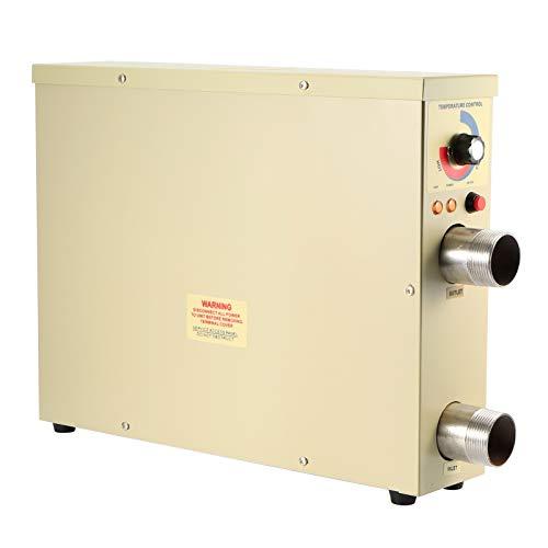 Calentador de piscina, calentador de agua eléctrico, temperatura constante automática, seguro y confiable para accesorios de bañera de hidromasaje de piscina