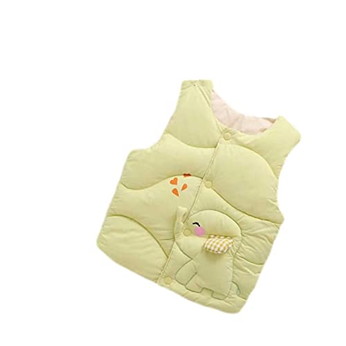 YQSR - Chaleco sin mangas para bebé y niña, chaqueta térmica gruesa, sin mangas, forro polar de algodón, chaquetas