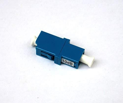 10 Piezas LC UPC Brida 10dB Fijo Fibra Óptica Atenuador
