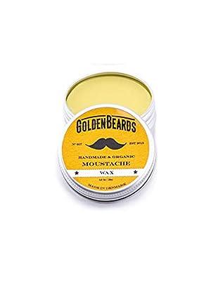 Organic Moustache Wax - 15ml 100% | Natural Golden Beards | Medium Hold - Nice Smell from Golden Beards