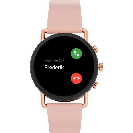 Skagen Falster 3 - Gen 5 Smartwatch HR Pantalla táctil con Correa de Silicona Rosa para Mujer SKT5205
