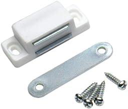 Bulk Hardware BH00396 1,75 kg kleine magneetsluiting voor trek-wit (verpakking van 4), 4 stuks