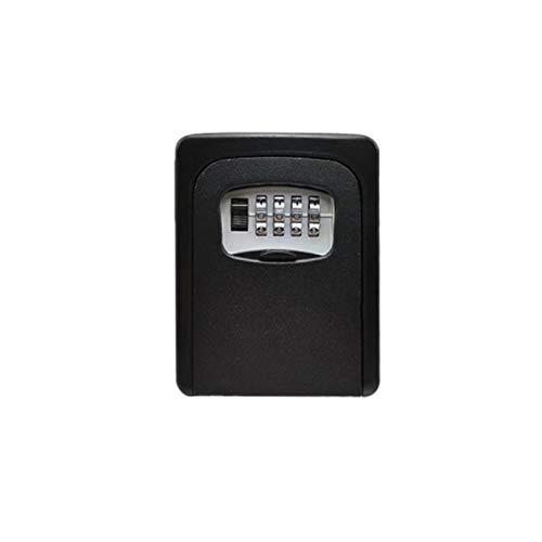 WanuigH Caja Fuerte para Llaves 4 dígitos tecla de Bloqueo de Almacenamiento Combinaciones Ajustables Cerradura for Almacenamiento Llave de la casa Más Confiable (Color : Black, Size : One Size)