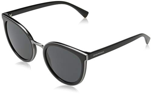 Emporio Armani Damen 0EA4135 Sonnenbrille, Blau (Black), 54