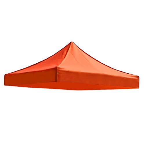 SM SunniMix Rechange Toil Toit de Tonnelle Imperméable Auvent Bâche Tente de Camping - Orange, 3x3m