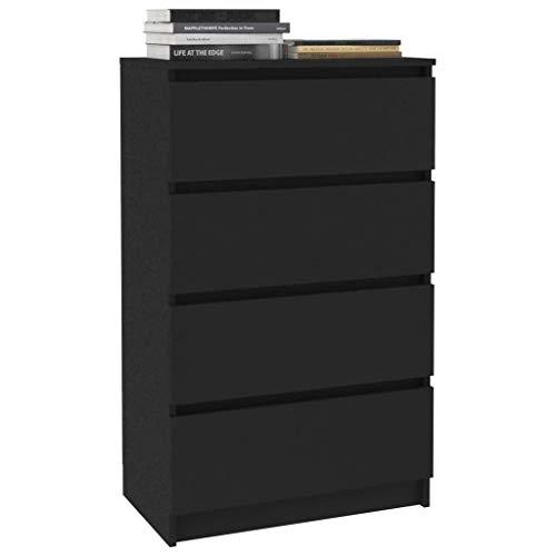 Tidyard Sideboard Lowboard Seitenschrank Schubladenschrank 60×35×98,5 cm Mit 4 Schubladen,Kommode Standschrank Anrichte Beistellschrank,Spanplatte