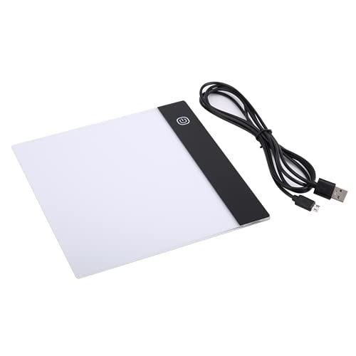 WNSC Almohadilla de luz LED portátil, 7.5 X 7.1 Pulgadas Almohadilla de Seguimiento de artesanía LED Caja de luz Almohadilla de luz de Seguimiento LED para Dibujar para animación para transmitir