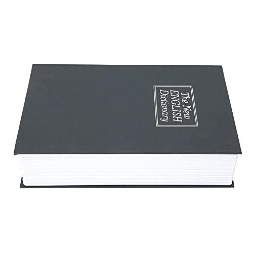 Uxsiya Caja de seguridad con forma de libro de simulación sin necesidad de abrir la caja de dinero ecológica, resistente, para tarjetas bancarias